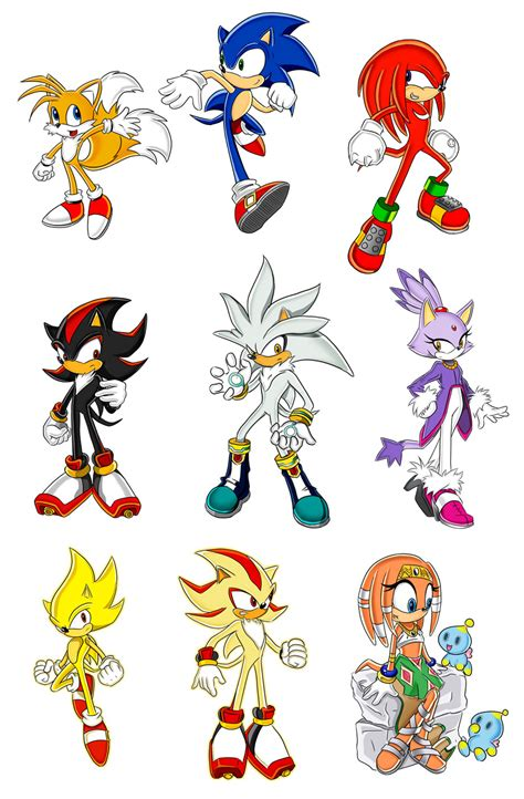 Sonic the Hedgehog Characters — Weasyl