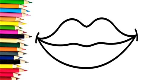 draw heart lips coloring pages  kids learn