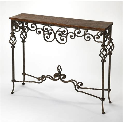 iron wood console table best 25 wrought iron console table ideas on 4803