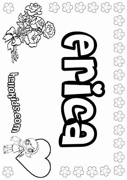Coloring Erica Pages Letter Fantastic Enjoy Katy