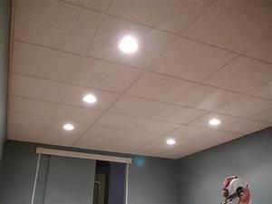 Drop ceiling recessed light housing designs