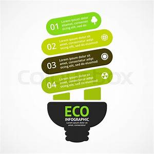 Energy Efficient Light Bulb  Vector Arrows Green Eco