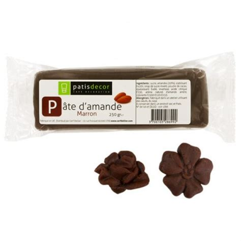 pate d amande color 233 e marron pas ch 232 re 250 g pate a sucre fr