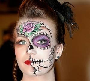 Schminken Zu Halloween : horror gesicht schminken f r halloween ~ Frokenaadalensverden.com Haus und Dekorationen