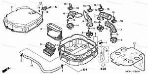 Honda Motorcycle 2004 Oem Parts Diagram For Air Cleaner