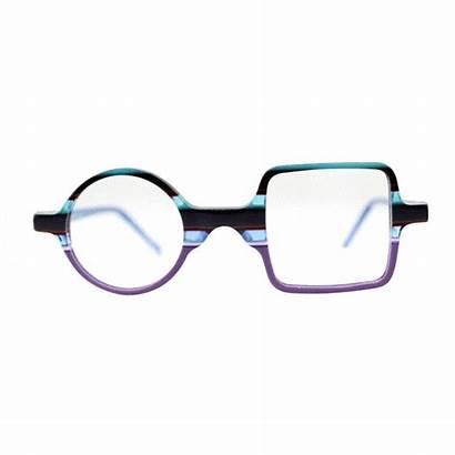 Square Circle Funky Glasses Frames Eyeglasses Msg