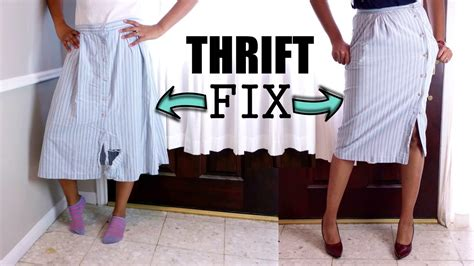 Diy Vlog #4 Midi Skirt Thrift Fix + How To Sew On A