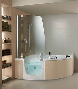 Badewanne Mit Dusche Kombiniert : ergonomische eck badewanne mit dusche und whirlpool funktion von teuco ~ Sanjose-hotels-ca.com Haus und Dekorationen