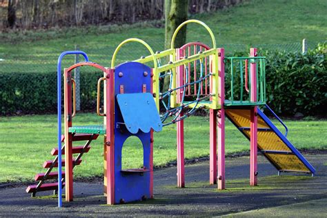 picture  summer playground area colorful