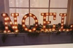 Noel lighted marquee sign letters light up sign holiday for Noel lighted letters