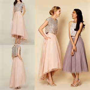 2016 Tutu Skirt Party Dresses Sparkly Two Pieces Sequins