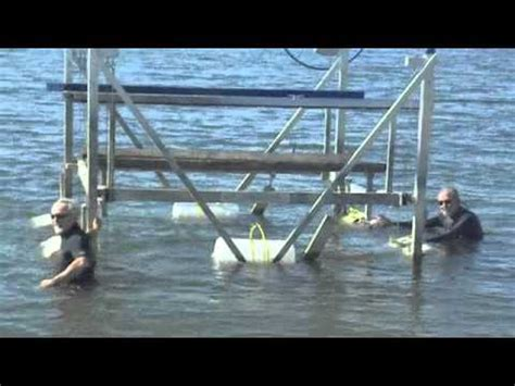 Boat Lift Float And Drop In Place by Moving The Boatlift