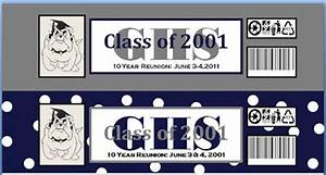 unique by design 10 year high school class reunion With class reunion water bottle labels
