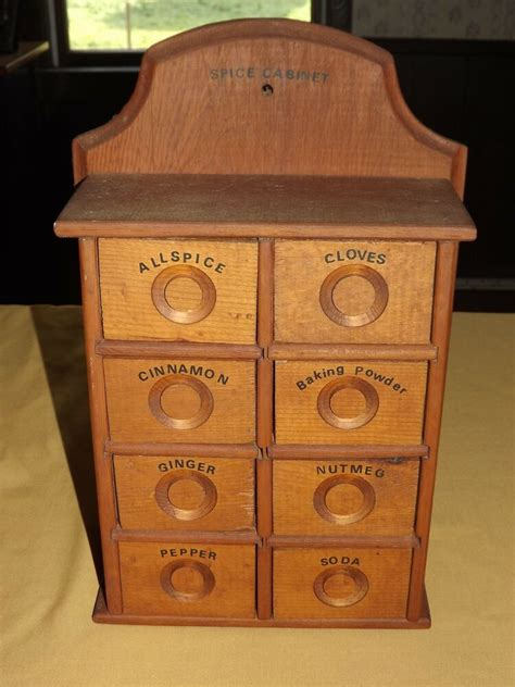 Spice Rack Ebay by Vintage Kitchen 17 Quot High Wood Spice Rack Wall Cabinet Ebay