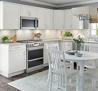 white cabinet kitchen ideas Cambridge Base Cabinets in White – Kitchen – The Home Depot
