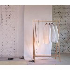 Portant Vetement Blanc : porte habits bois portant pour rangement v tements ~ Teatrodelosmanantiales.com Idées de Décoration