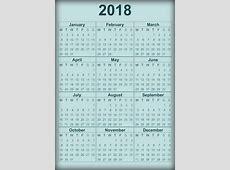 2018 Calendar Printable Download free printable