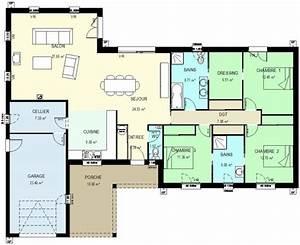 plan maison 70m2 plein pied gallery of bungalow de luxe With plan maison 70m2 plein pied