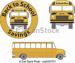 Clipart of School Bus - Front and side view of a school ...