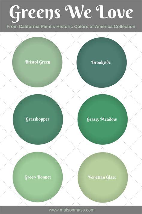 6 historic green paint colors we love maison mass