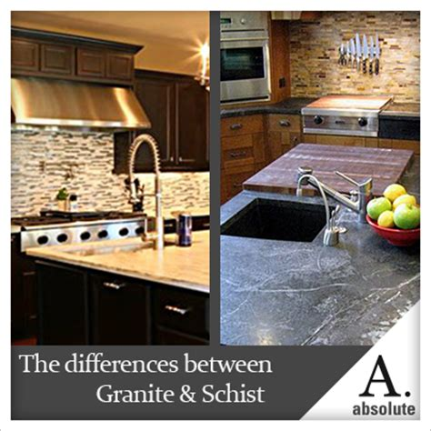 the difference between granite schist