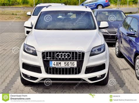 White Audi Q7 Editorial Stock Photo  Image 59046378