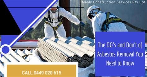 dos  dont  asbestos removal