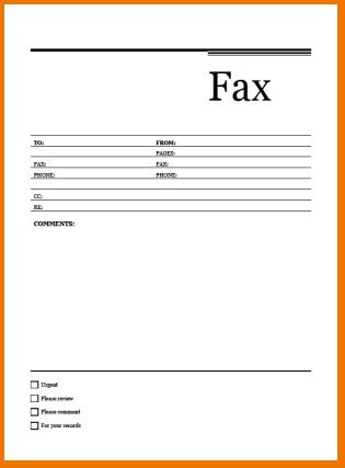 Professional Cover Sheet by Professional Fax Cover Sheet Template Word Template
