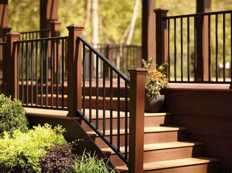 outdoor step railing ideas   outdoor stair