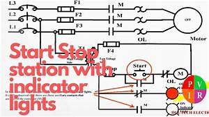 Three Phase Motor With Indicator Lights Ladder Diagram  Motor Control Schematic Diagram