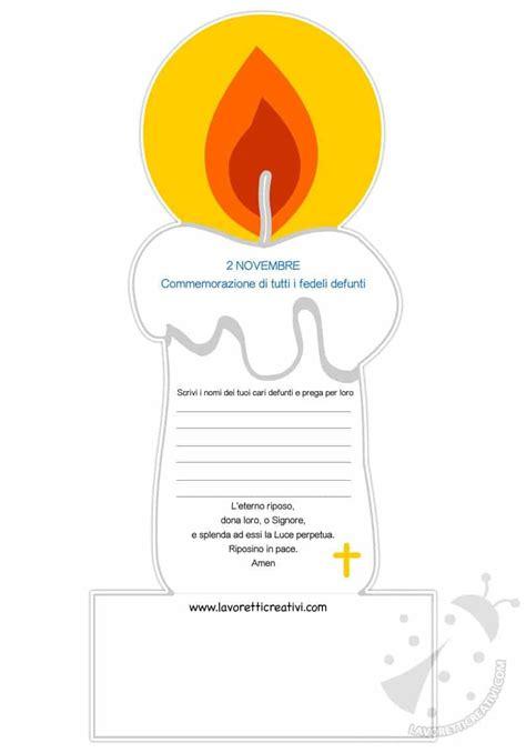 commemorazione dei defunti  bambini biglietto candela