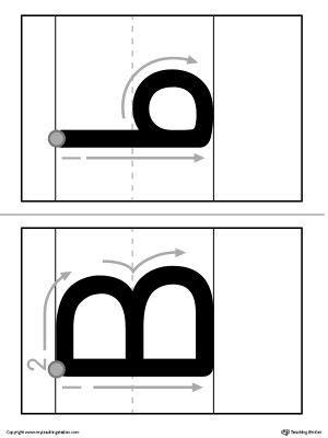 alphabet letter  formation card printable lettering