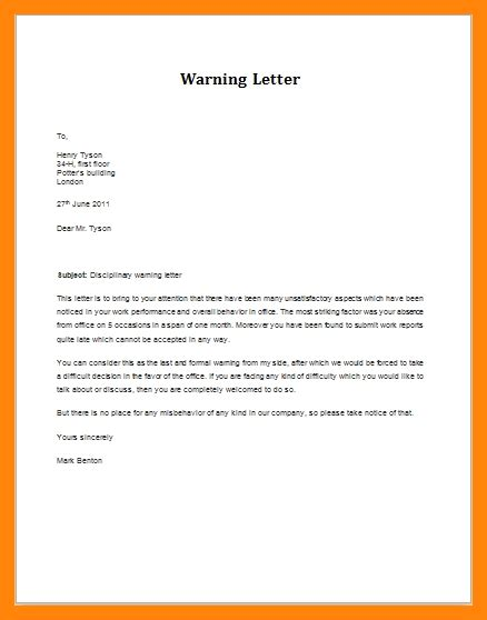 employee warning letter artresumescom