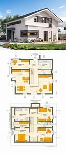 Modernes Haus Grundriss : modernes design einfamilienhaus mit satteldach architektur haus grundriss fertighaus sunshine ~ Orissabook.com Haus und Dekorationen
