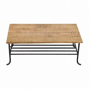 shop coffee tables With rustic wood and wrought iron coffee table