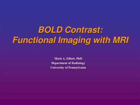 ppt bold contrast functional imaging with mri powerpoint presentation id 3991424