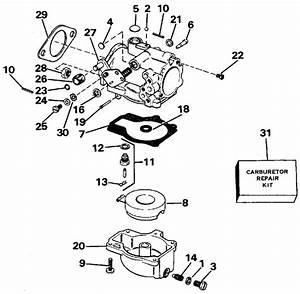 Evinrude Carburetor Parts For 1988 60hp E60tlccr Outboard