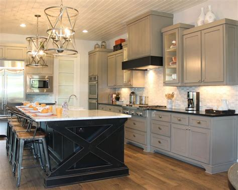 kitchen island different color should cabinets match throughout house burrows cabinets central texas builder direct custom