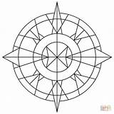 Kaleidoscope Coloring Simple Pages Drawing Printable Getdrawings Games Results Categories sketch template