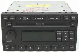 2001-2004 Ford Escape Factory Stereo 6 Disc Changer Cd Player Oem Radio
