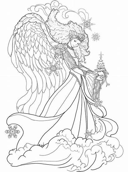 Coloring Fantasy Queen Christmas Pages Sky Sheet