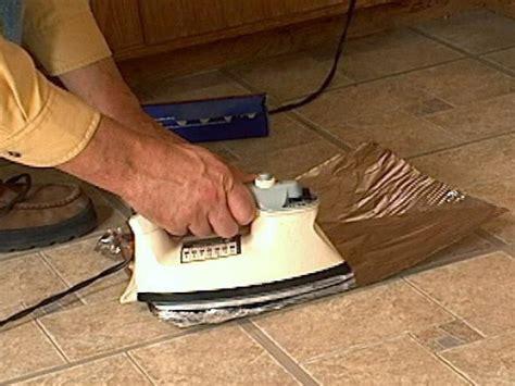 fix curling vinyl floor tile  tos diy