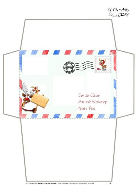 envelope  santa template invitation template  craft