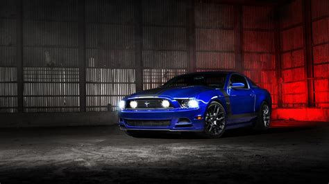 ford mustang blue wallpaper hd car wallpapers id
