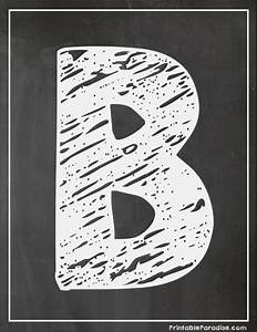 printable letter b chalkboard writing print chalky letter b With chalk stencils letters