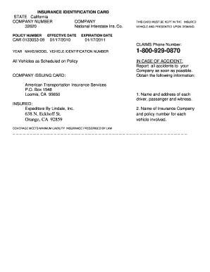 fake insurance card