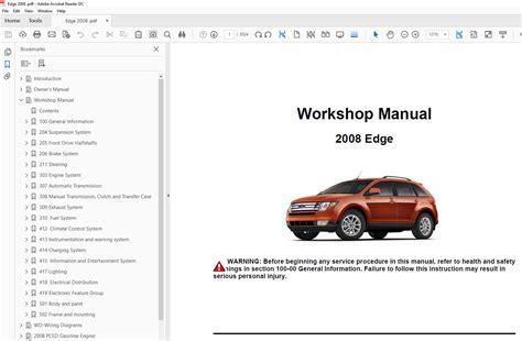 car repair manuals download 2009 ford edge seat position control ford edge 2006 2010 factory repair manual