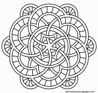 Coloring Adult Mandalas Mandala Printable Popular