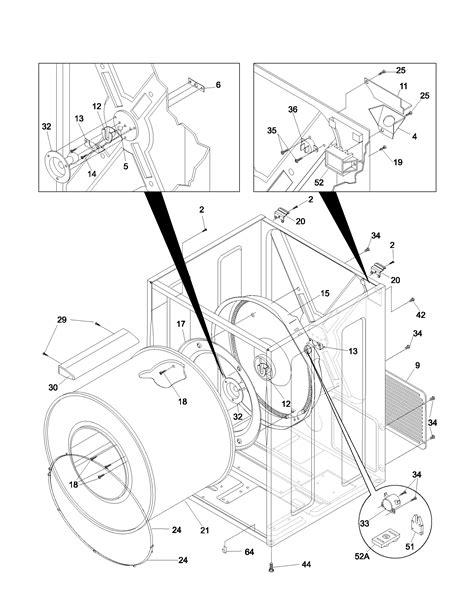 frigidaire dryer parts model feras sears partsdirect