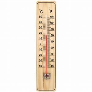 Thermometre Four A Bois : thermom tre int rieur ext rieur en bois 22cm achat ~ Dailycaller-alerts.com Idées de Décoration